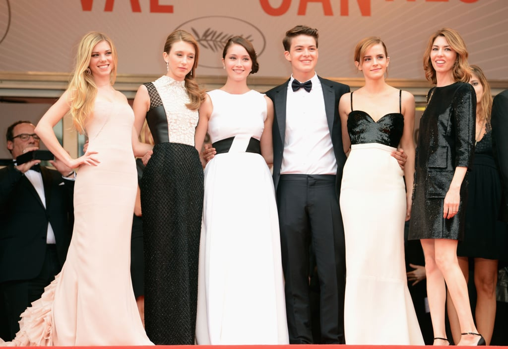 On Thursday, Emma Watson posed with The Bling Ring cast and director Sofia Coppola.