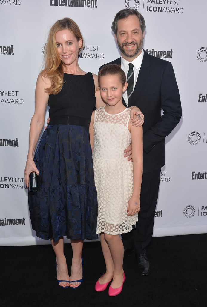 Judd Apatow received the festival's icon award on Monday. His wife Leslie Mann and daughter Iris were his dates.