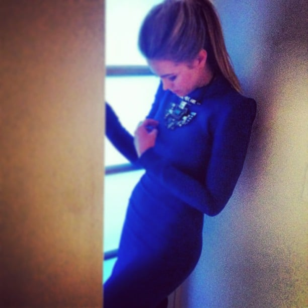 Jesinta Campbell was looking absolutely stunning in a skin-tight CArl Kapp dress and Lanvin jewellery. Source: Instagram user jesinta_campbell