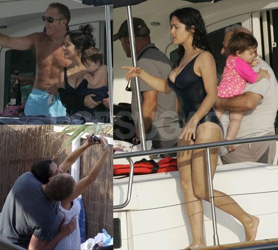 Salma Hayek Swimsuit Photos in Ibiza With Valentina and Francois-Henri Pinault