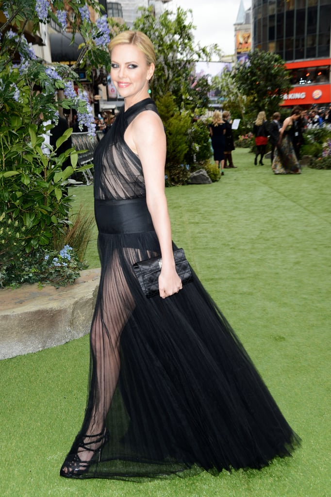 From the side, the dress is just as transparent.