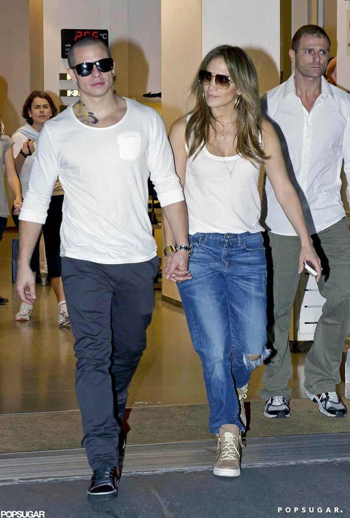 J Lo Shops Spain With Casper, Max, and Emme
