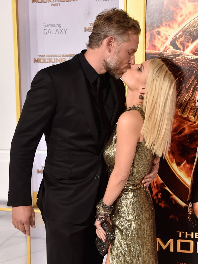 Eric and Jessica shared a sweet smooch on the red carpet at the LA premiere of The Hunger Games: Mockingjay - Part 1 in November 2014.