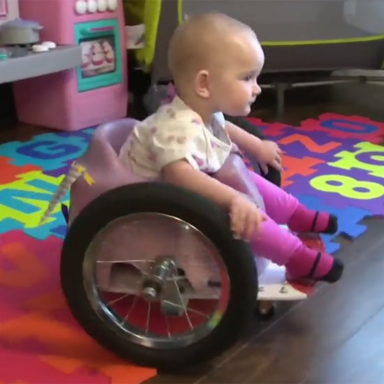 Paralyzed Toddler Gets DIY Wheelchair