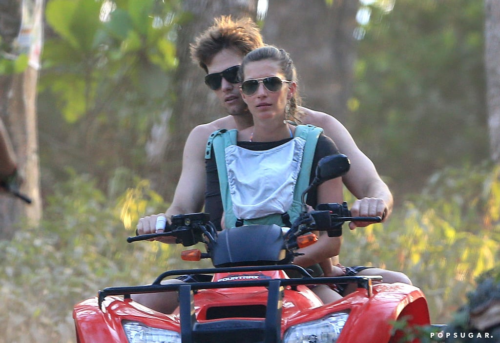 Tom Brady steered an ATV for Gisele Bündchen and Vivian.