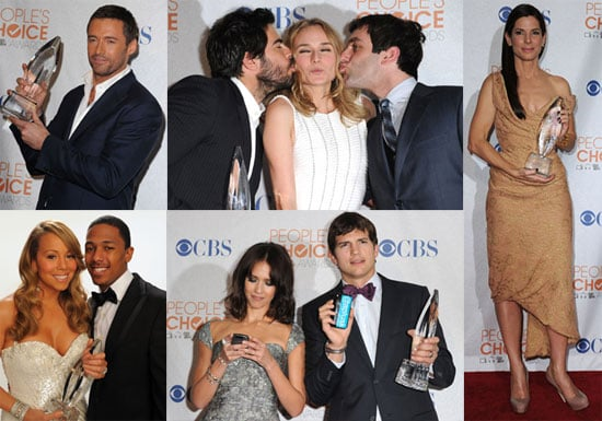 Photos of Ashton Kutcher, Taylor Swift, Mariah Carey, and More in the 2010 People's Choice Awards Press Room