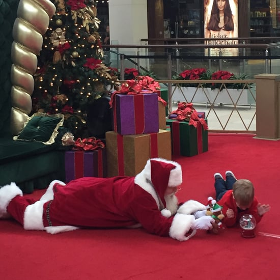 Mall Santa Gets on Floor to Comfort Boy With Autism