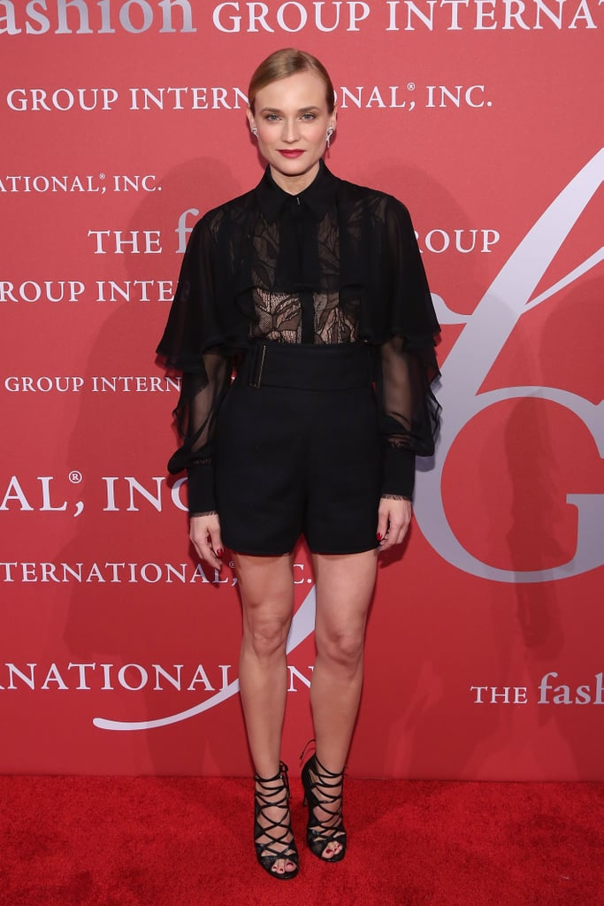 The star proved all black is anything but boring at Fashion Group International's 2015 Night of Stars.