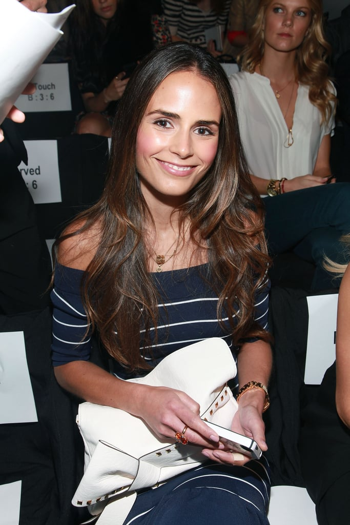Jordana Brewster in the front row at Fashion Week.