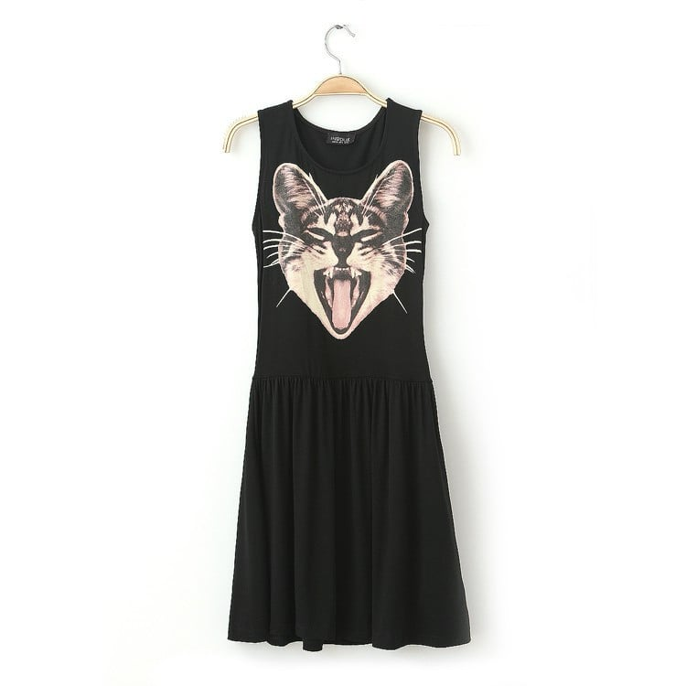 We don't know about you, but this screaming kitty dress ($23) is the best thing we've seen all day.