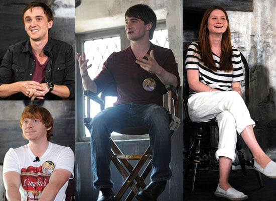 Pictures of Harry Potter Cast at Wizarding World Press Conf Bonnie Wright, Daniel Radcliffe, Rupert Grint, Tom Felton 2010-06-18 05:00:00