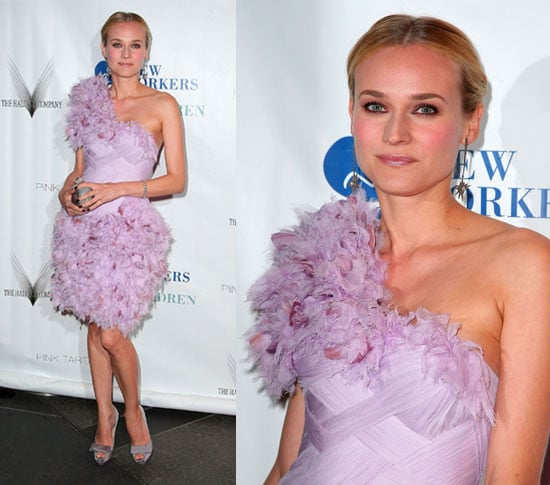 Diane Kruger Wears Lavender Marchesa to Annual New Yorkers For Children Spring Dinner Dance in NY