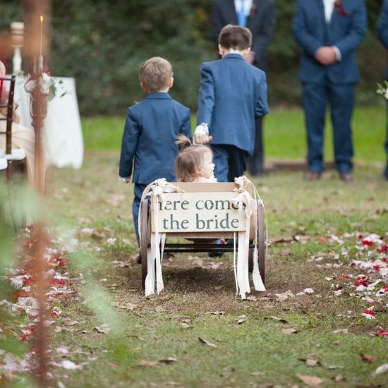 Kid Dive Bombs Into Wedding Dress