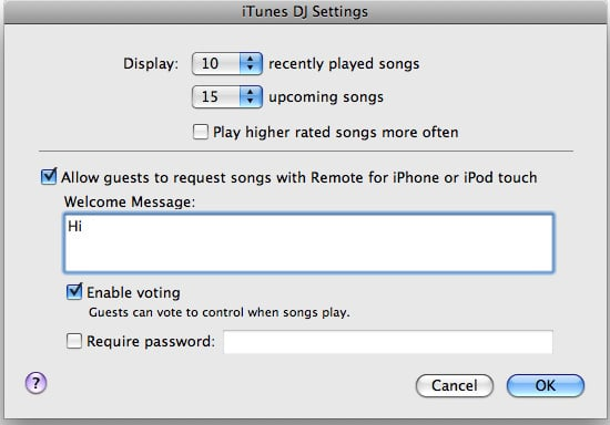 Daily Tech: iTunes DJ Lets Guests Pick Your Playlist Songs