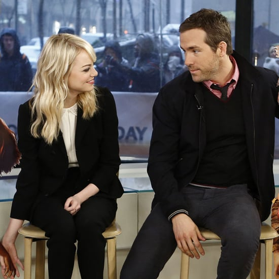 Celebrity Interview: Emma Stone & Ryan Reynolds; The Croods