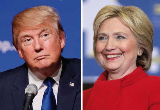 Polls Show a Close Race Between Clinton and Trump