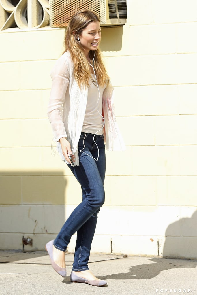 Jessica Biel continued working on Shiva and May in LA on Monday.