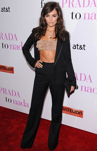 Camilla Belle Wears a Bra Top to the Premiere of From Prada to Nada