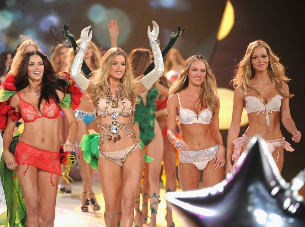 Put the world's hottest models in sexy lingerie and you're sure to end up with some memorable images. VS Angels Candice Swanepoel, Erin Heatherton, Adriana Lima, and more slipped into holiday-themed ensembles in November for Victoria's Secret's annual runway show. I'll be referring to this photo for some extra motivation next time I hit the gym.   — Katie Henry, associate editor