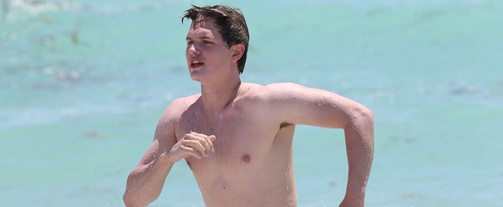 "Ansel Elgort's Shirtless Beach Outing Will Make You Say, ""Okay? Okay"""