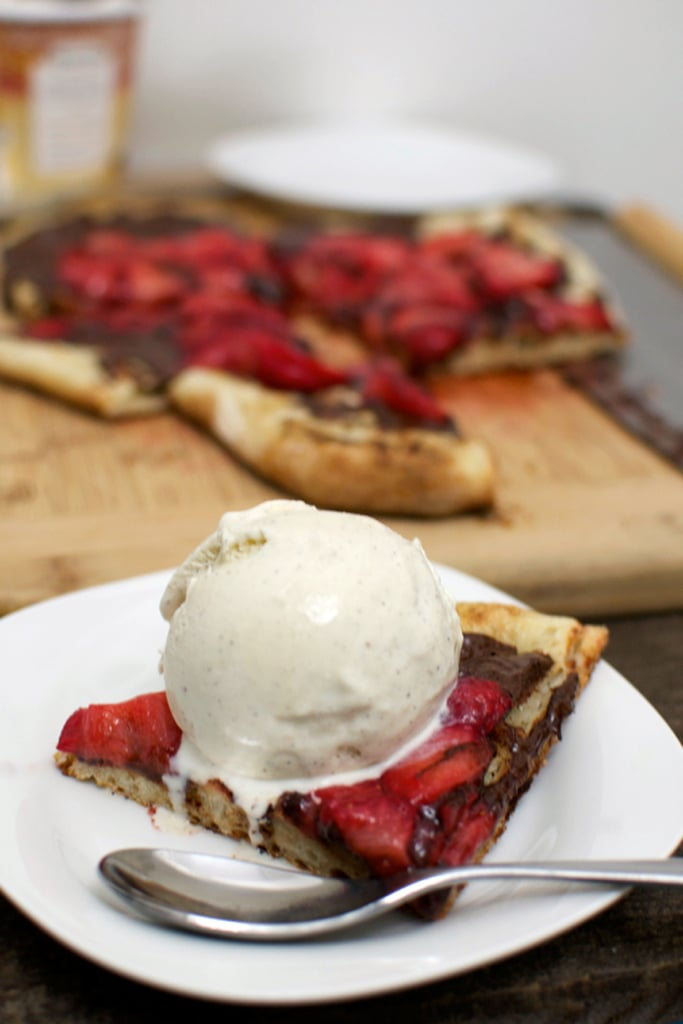 Grilled Pizza With Strawberries and Chocolate