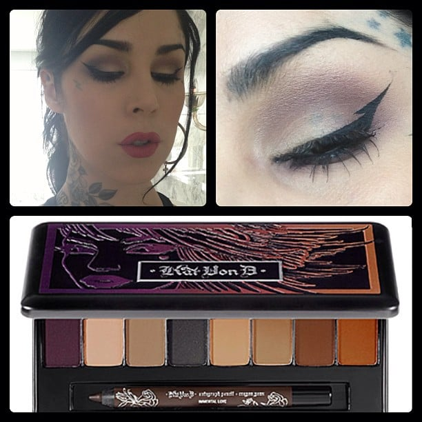 Kat Von D showed off one of her latest offerings and how to rock it. Source: Instagram user thekatvond