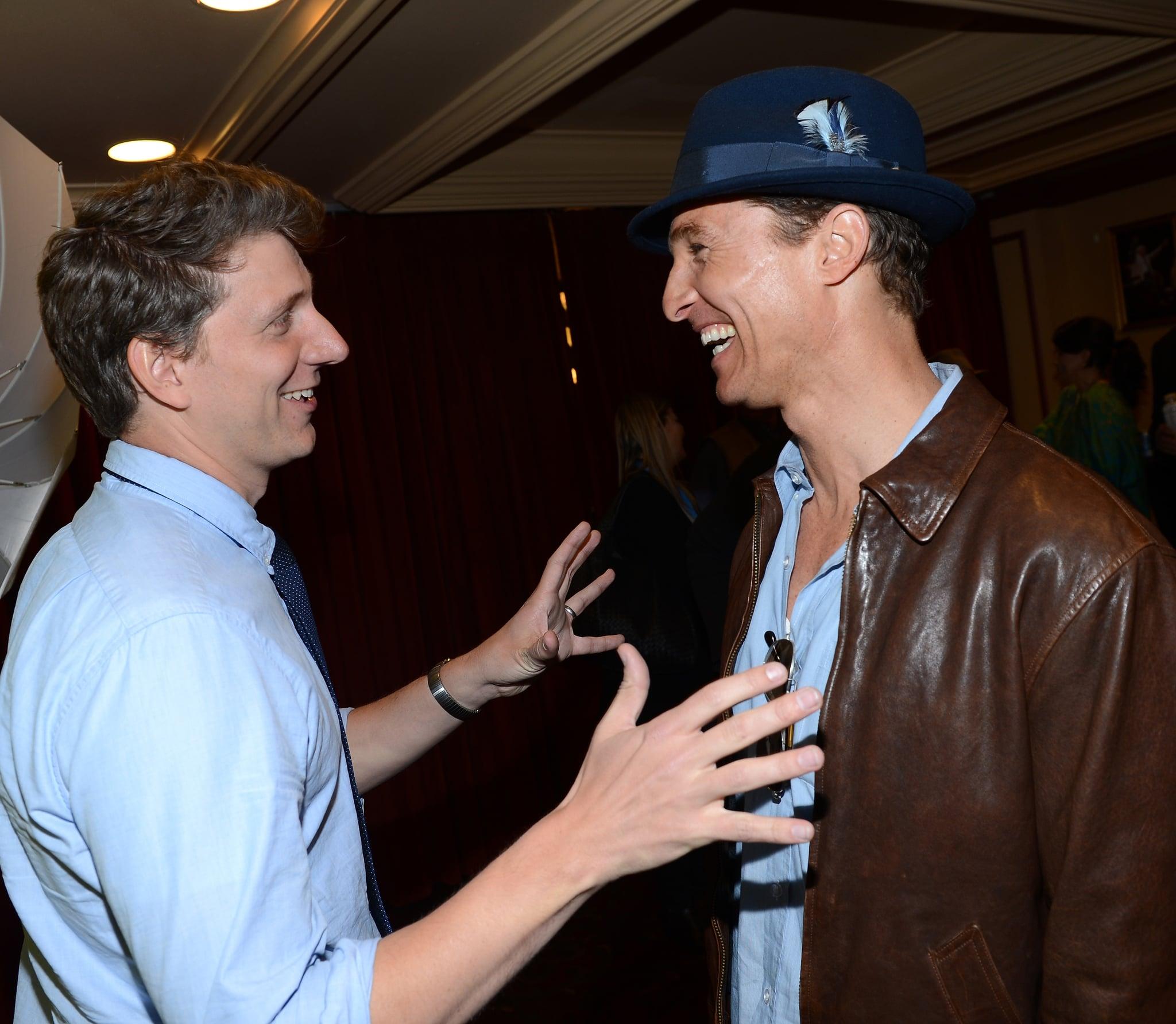 Matthew McConaughey got together with Jeff Nichols at the Mud screening at SXSW.