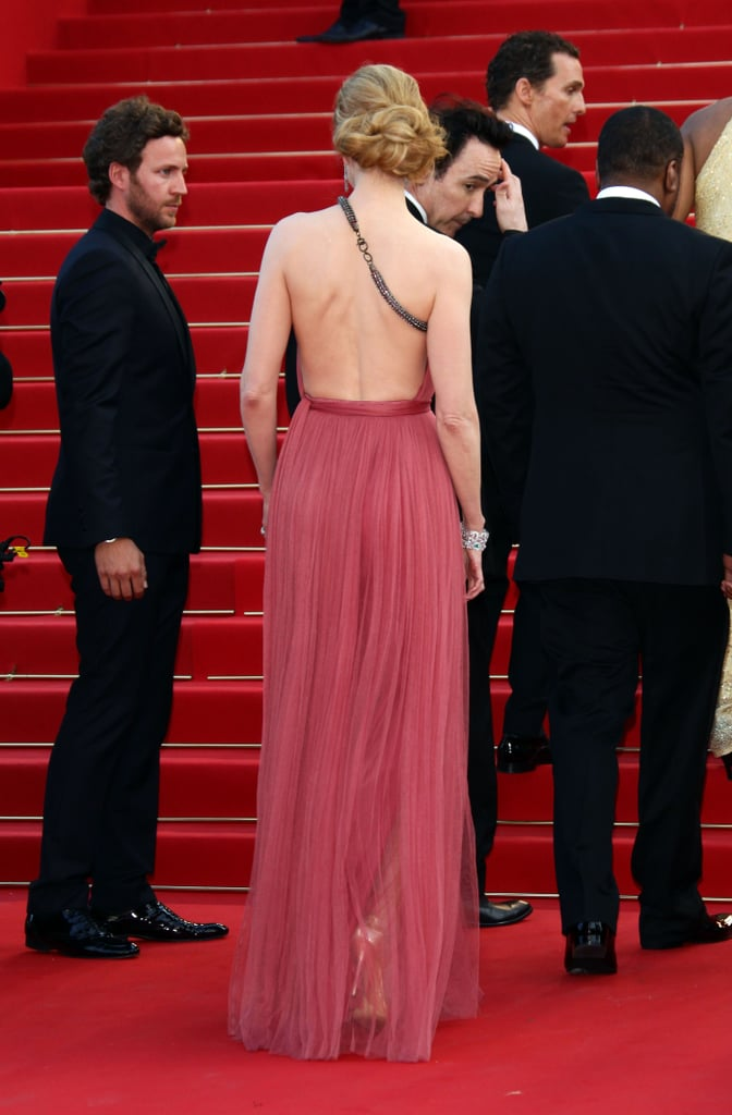 The breathtaking back on Nicole Kidman's gown.