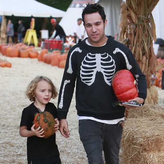 Pete Wentz and Bronx at a Pumpkin Patch in LA 2013