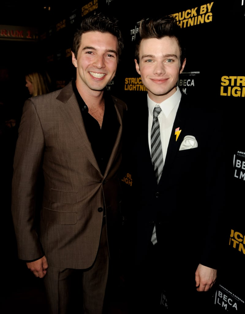 Roberto Aguire and Chris Colfer