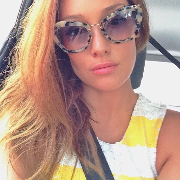 Erin Gleave showed off her new Miu Miu shades with this selfie. Source: Instagram user mcnaughty