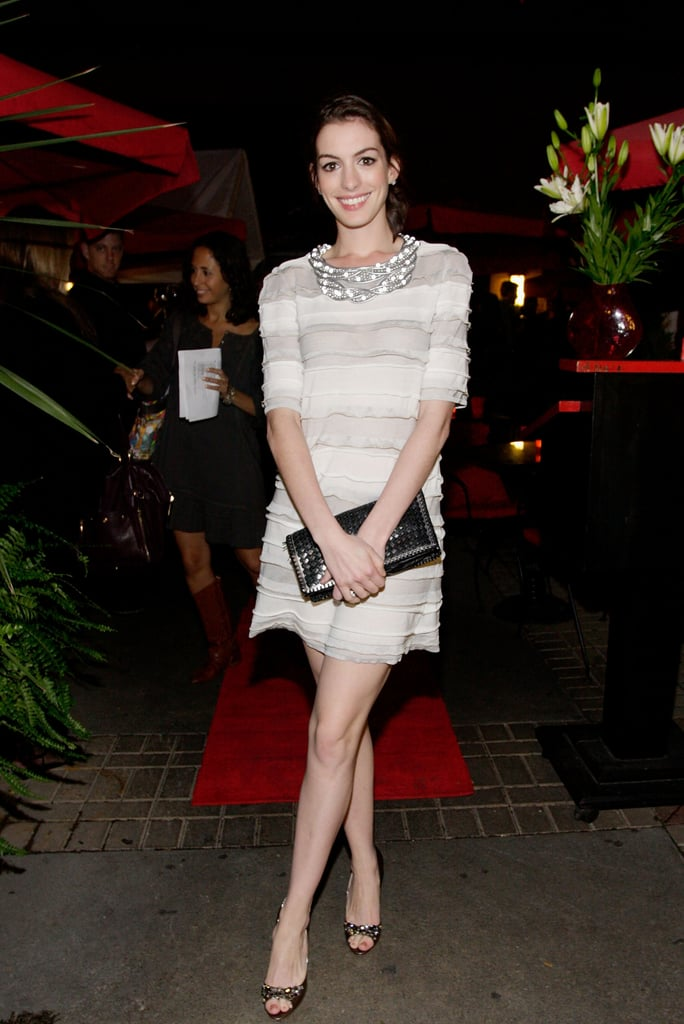 A chic white Chanel shift at the 2008 Toronto International Film Festival, perfectly accessorized.
