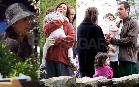 Photos of Salma Hayek with Adam Sandler, Maya Rudolph and Their Kids on the MA Set of Grown Ups