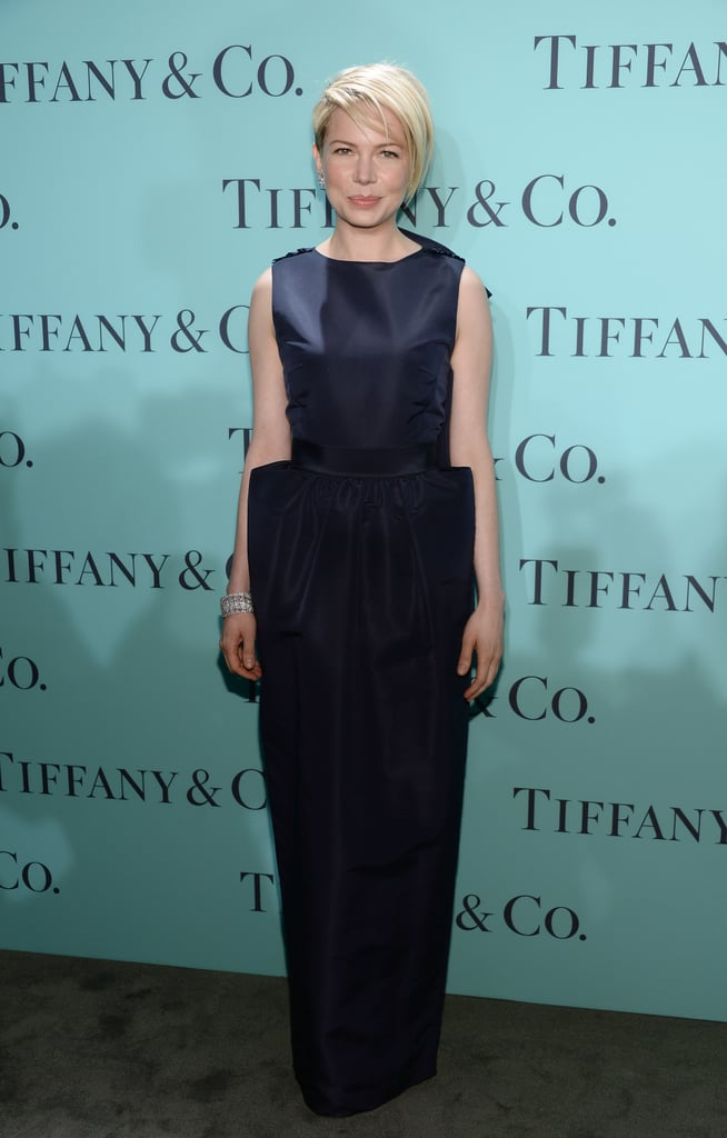 Michelle Williams was understated, modern, and totally elegant in Katie Ermilio at Tiffany & Co.'s Blue Book Ball in NYC.