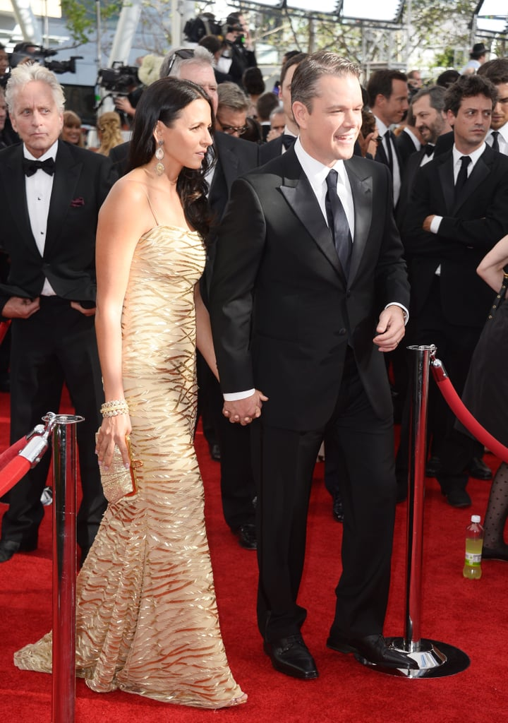 Nominee Matt Damon held hands with his wife, Luciana, on the red carpet.