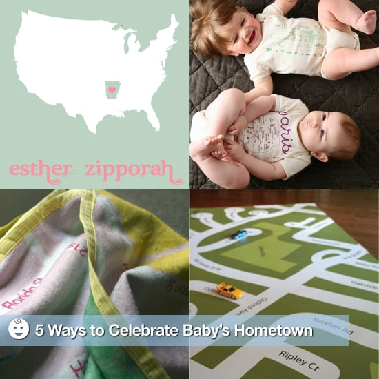 Custom Map Baby Gift Ideas