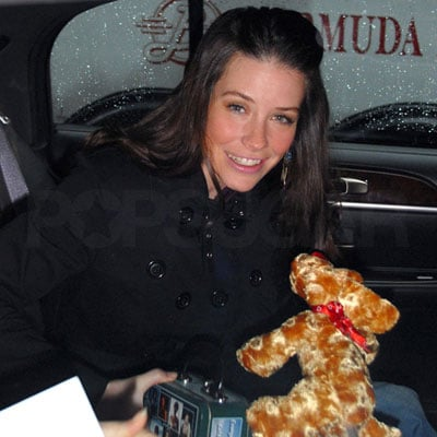 Evangeline Lilly in NYC on February 13, 2008