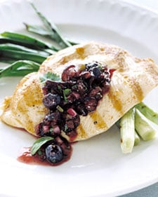 Sunday BBQ: Grilled Chicken With Blueberry-Basil Salsa