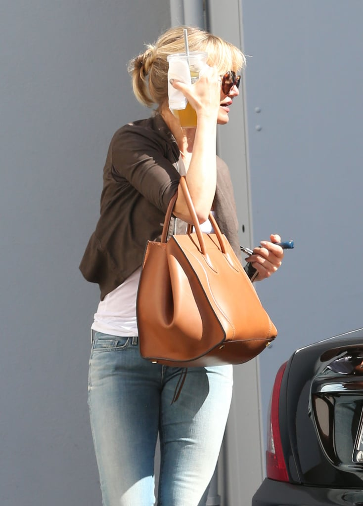 Cameron Diaz stopped by Gucci in Beverly Hills.