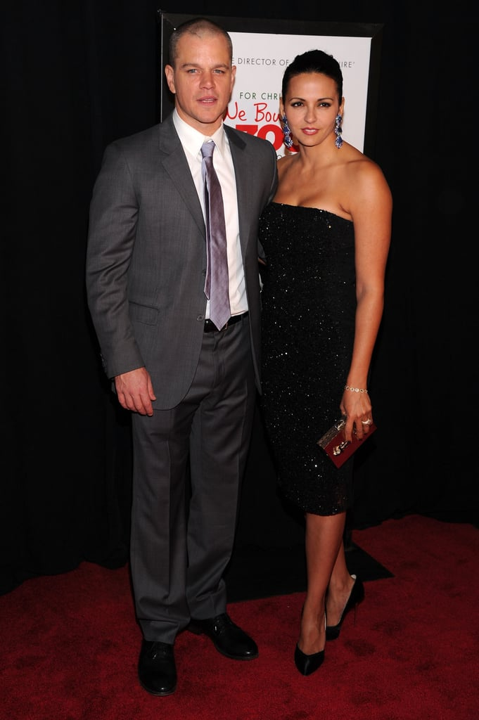 Matt Damon arrived at the We Bought a Zoo premiere with his wife, Luciana.