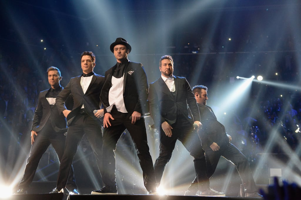 Justin Timberlake reunited with his 'N Sync bandmates on stage in 2013.