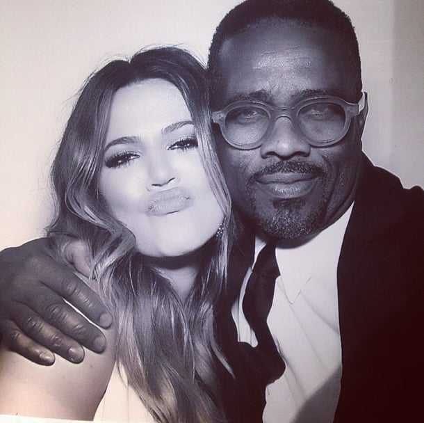 Tony also took a snap with Khloé.
