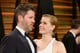 Amy Adams gave Darren Le Gallo a sweet look at the Vanity Fair Oscars party.