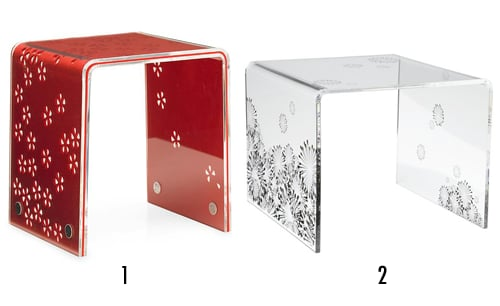 Less or More Game: Graphic Pattern Acrylic Table