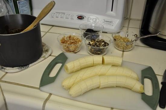 Frozen Chocolate Dipped Banana Bites