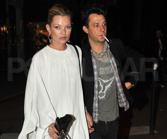 Slide Photo of Kate Moss and Jamie Hince Having Dinner in Paris