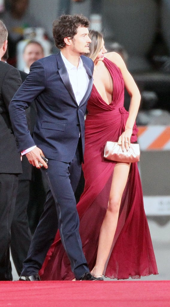 Miranda and Birthday Boy Orlando Couple Up For a Sexy Globes Stop
