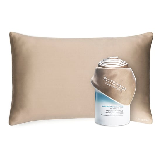 Sleep can do wonders for your whole body, including your complexion, but now the Iluminage Skin Rejuvenating Pillowcase ($60) is redefining the meaning of beauty sleep. Copper is known for its role in healthy skin functions, and the fibers of this pillowcase are infused with copper oxide, which releases the mineral's ions to boost your skin's own self-renewal process. That means resting your face on this material all night can help reduce the appearance of fine lines and boost moisture and smoothness. Talk about a good night's sleep! — Kaitlyn Dreyling, associate editor