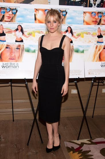 Sienna Miller wore a Burberry dress and IRO pumps to the event.