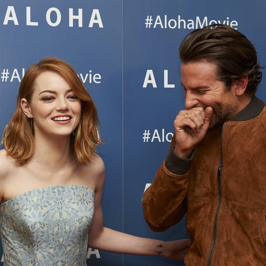 Emma Stone and Bradley Cooper Can't Stop Giggling on the Aloha Red Carpet